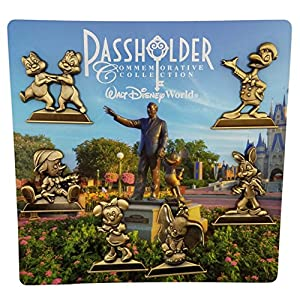 Disney Pin – WDW – Annual Passholder – Gold Statues 6 pin set