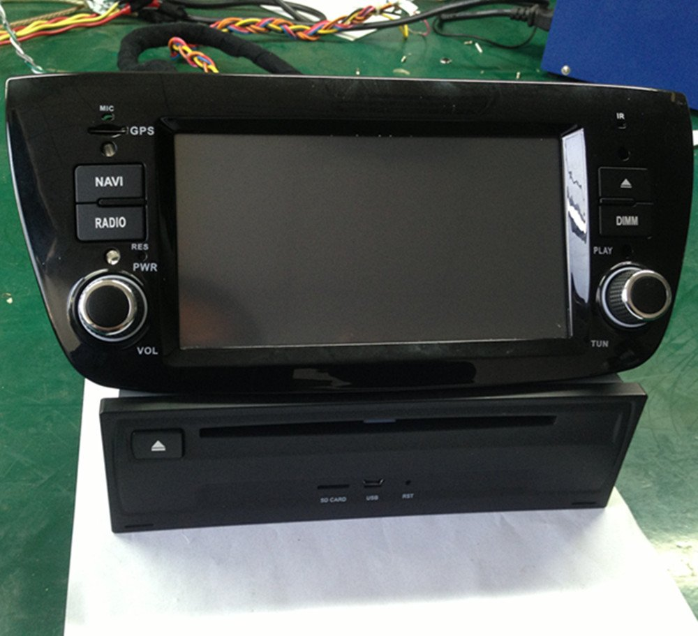 LIKECAR WinCE6,0 radio de coche para Fiat Doblo DVD Sistema de navegación GPS digital pantalla de toque de entretenimiento multimedia Sistema estéreo con ...