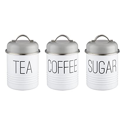 Typhoon Vintage Mayfair Tea Coffee Sugar Canister Trio 950ml
