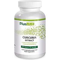 Plusvive - Extrait de curcuma, fortement dosé avec de la pipérine et une formule d'amélioration de la biodisponibilité