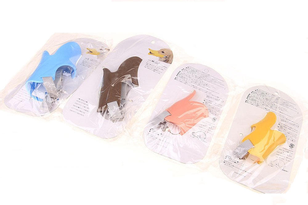 Fashion 1989 Pet Dog Muzzle Mask Silicone Moderate Hardness Duckbill Muzzle for Dog Puppy 4Colors 4Sizes (M 1black)