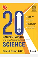 20 Plus CBSE Sample Papers Science Class 10 for 2021 Exam with Reduced Syllabus Kindle Edition