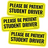 Automotive : wall26 Reflective Please Be Patient Student Driver Magnetic Car Signs(Set of 3) Safety Caution Sign