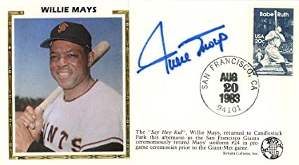 Willie Mays Autographed First Day Cover San Francisco Giants Beckett BAS #E48888 - Beckett Authentication