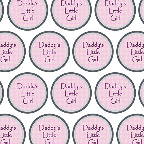 Premium Gift Wrap Wrapping Paper Roll Sweetest Best - Daddy's Little Girl Pink with Flowers