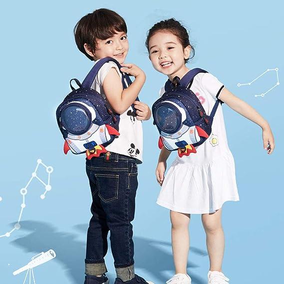 ff21cb39439 GKPLY Mochila para niños Rocket  con cinturón Anti-pérdida