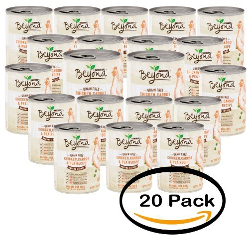 Pack of 20 - Purina Beyond Ground Entrée Grain Free Chicken, Carrot & Pea Recipe Natural Dog Food 13 oz by Purina Beyond