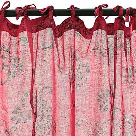 Thedecofactory Visillo Nalia (110 x 250 cm, Color Frambuesa) • 100% algodón: Amazon.es: Hogar