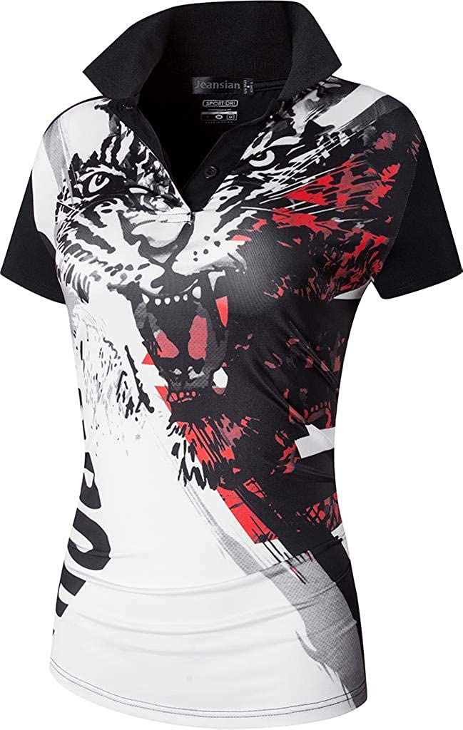 Jeansian Womens Sports Breathable Quick Dry Short Sleeve Polo T-Shirts Tee SWT251