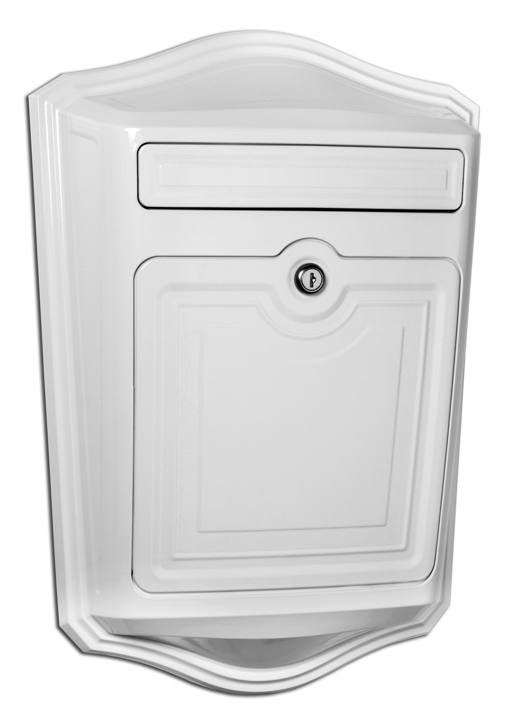 Architectural Mailboxes 2540W Maison Locking Wall Mount Mailbox, White