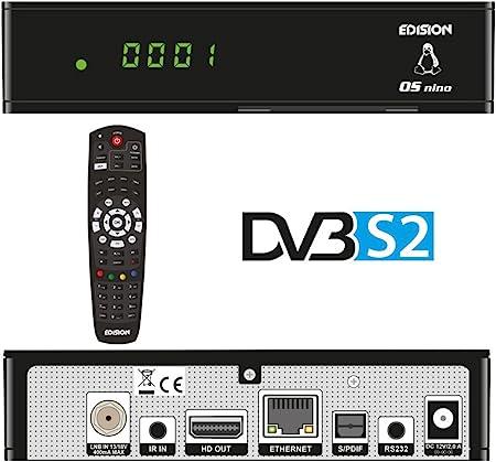 Edision Os Nino Full Hd Satelliten Linux E2 Receiver 1x Dvb S2 2x Usb Hdmi Lan Linux Kartenleser Schwarz Heimkino Tv Video