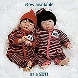 Paradise Galleries Lifelike Realistic Reborn Like Doll Vinyl 17 inch Baby Boy/Girl Doll Gift ''PANDA TWINS SET''