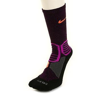 Nike Hyperelite Basketball CRO - Calcetines Unisex, Color Morado/Gris / Naranja, Talla