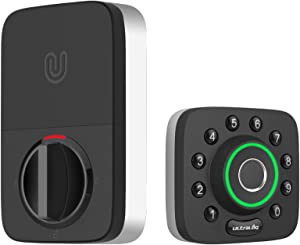 ULTRALOQ U-Bolt Pro Bluetooth Fingerprint and Keypad Electronic Smart Deadbolt Door Lock
