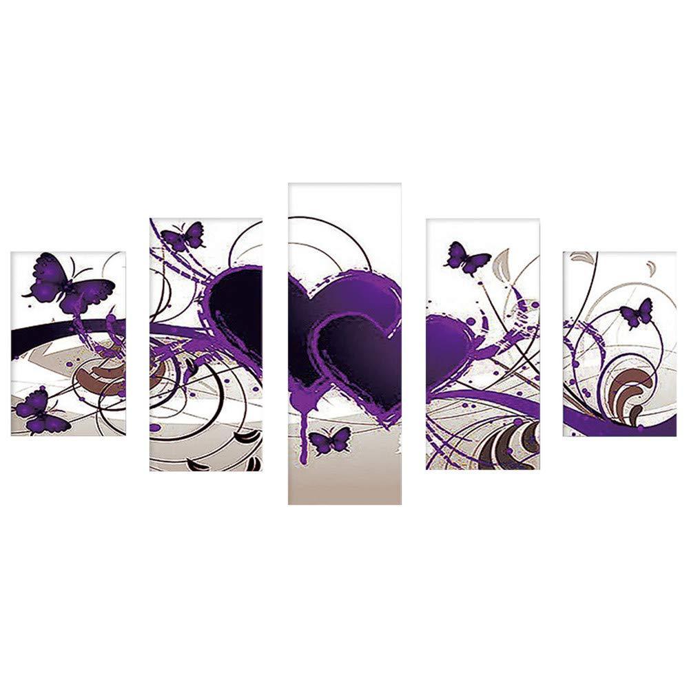 certainPL DIY 5D ダイヤモンド絵画キット フルドリル ラインストーン ダイヤモンド 刺繍 DIY アートクラフト 大人用 ラブハート B07KM2PW1S D