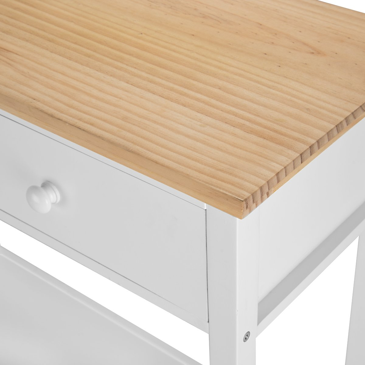 Console Table Stunning Kitchen Hall Table with 2 Drawers and Bottom Shelf
