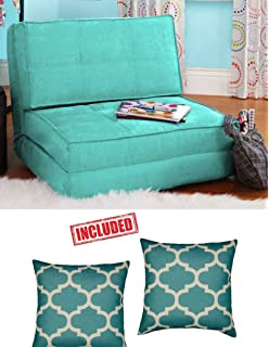 Flip Chair Convertible Sleeper Dorm Bed Couch Lounger Sofa In Mint Finish  With Set Of 2
