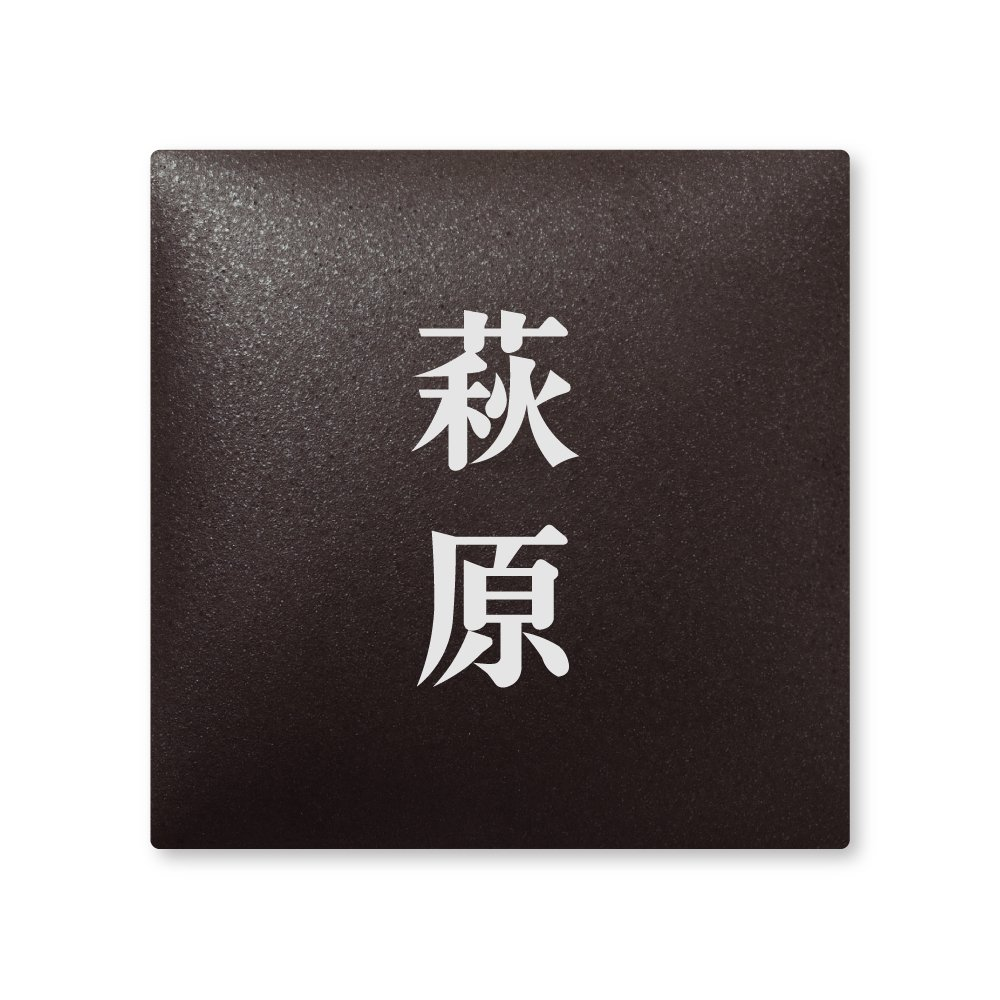 丸三タカギ 彫り込み済表札 【 萩原 】 完成品 アークタイル AR-2-2-2-萩原   B00RFFYHV6