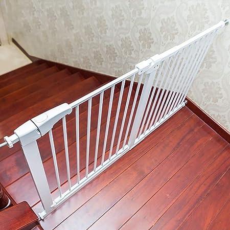 FCXBQ Puertas de Seguridad Extensibles para niños con Puerta de Entrada Extra Ancha de 60 cm, Ajuste a presión para escaleras Baño de Cocina (Color: H / 77cm, Tamaño: W / 101-108cm):