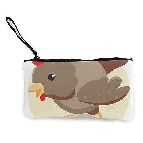 Amazon.com: Monedero de pollo Icon con cremallera para mujer ...