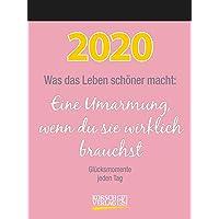Was das Leben schöner macht 2020: Typo-Art Tages-Abreisskalender I Jeden Tag ein neuer Spruch I Aufstellbar I 12 x 16 cm
