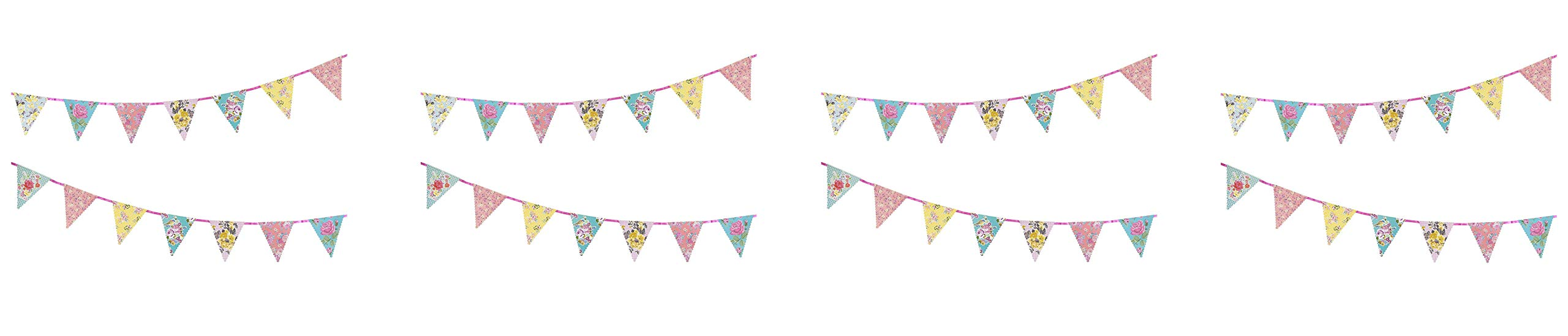 Talking Tables Tea Party Decorations Floral Banner Bunting | Truly Scrumptious | Also Great for Birthday Party, Baby Shower, Wedding and Anniversary | Paper, 4M - TS4-BUNTING (Fоur Paсk)