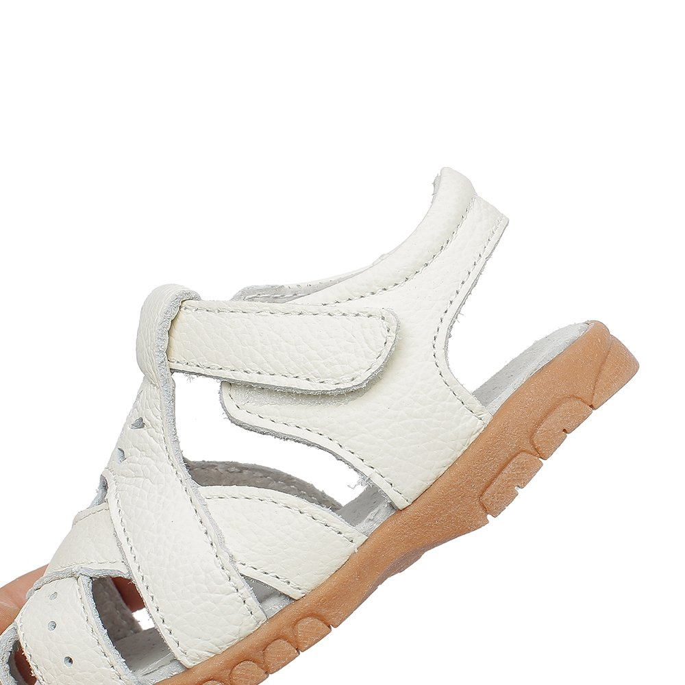 Toddler//Little Kid MIGO BABY Girls Soft Leather Sandals Casual Outdoor Summer Shoes Princess Flats Sandals