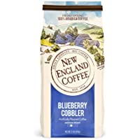 New England Coffee Blueberry Cobbler, Medium Roast Ground Coffee, 11 Ounce (1 Count) Bag