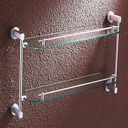 Bathroom racks/Makeup bathroom shelf/ Thick glass shelf-C durable modeling