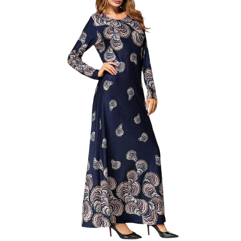 OCEAN-STORE Muslim Fashion Women's Ethnic Style Party Dresses Maxi Dress ON-123