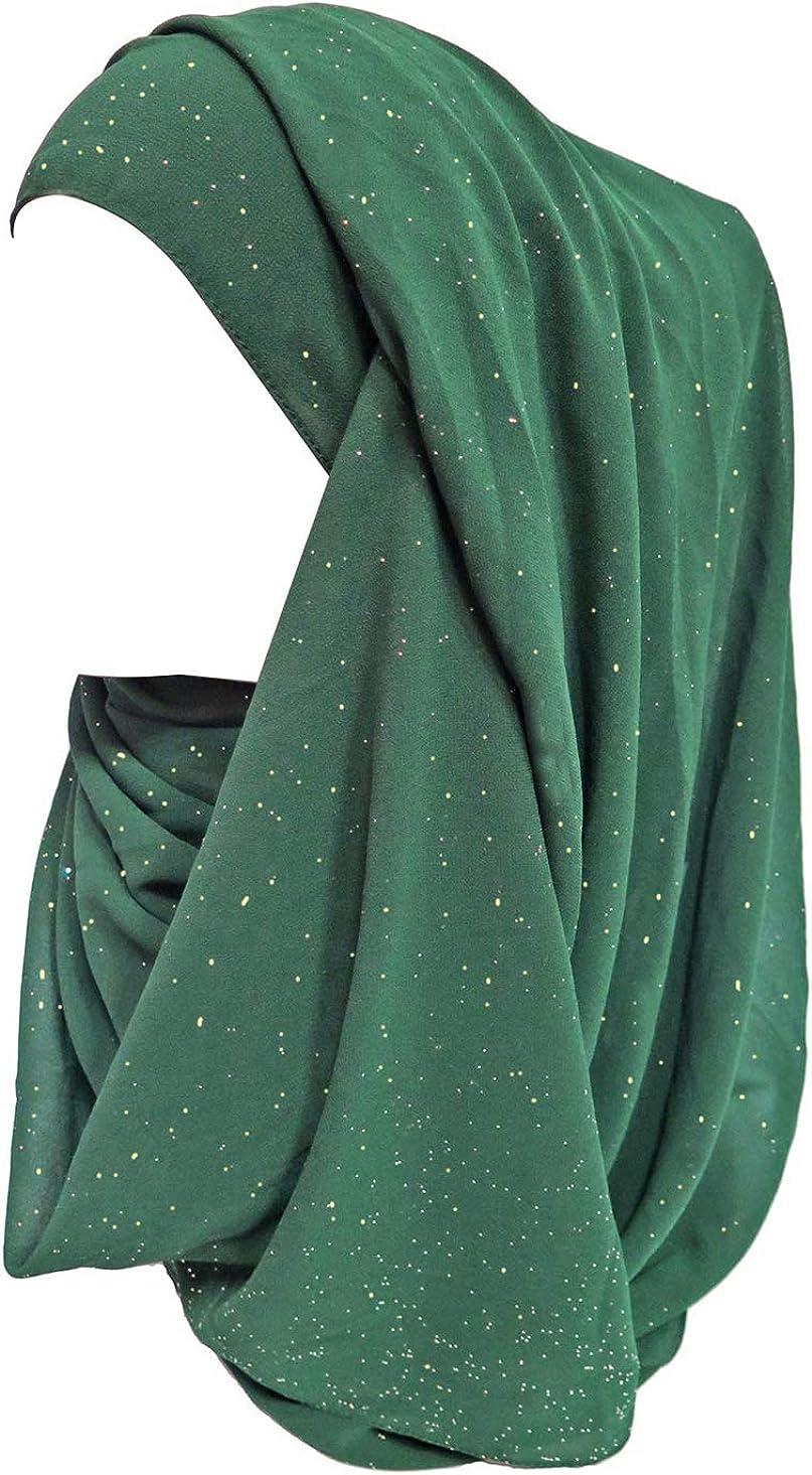 Lina /& Lily /Écharpe Hijab pour Femme Musulmane en Briller Or Glitters