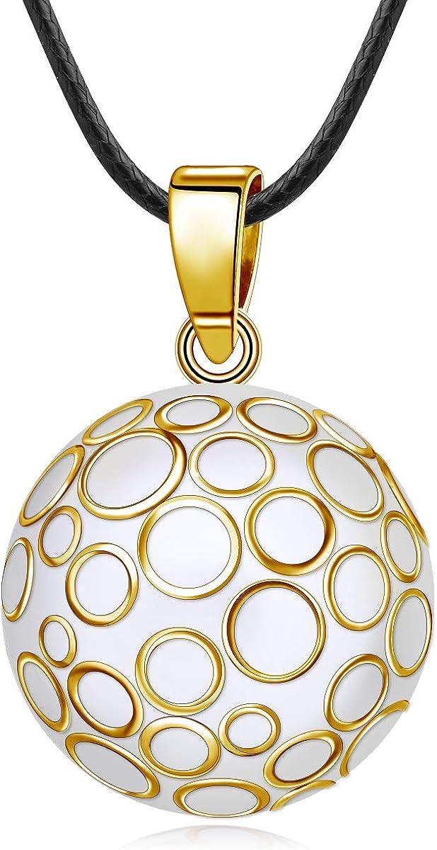 EUDORA Harmony Ball Llamador de Angeles Embarazada Fuente de Vida Bisutería Collares de Mujer, Colgantes de Mujer Primer Embarazo Mamá Regalos Originales para Mujer Hermana, 114,3cm