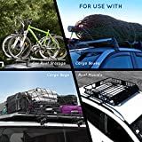 ROOF CARGO BAG PROTECTIVE MAT for Car Roof Storage Bags with EXTRA PADDING and GRIP Place the car roof mat under any rooftop cargo bag TOP UNIVERSAL ROOF RACK PAD for PROTECTION from Car Roof Racks