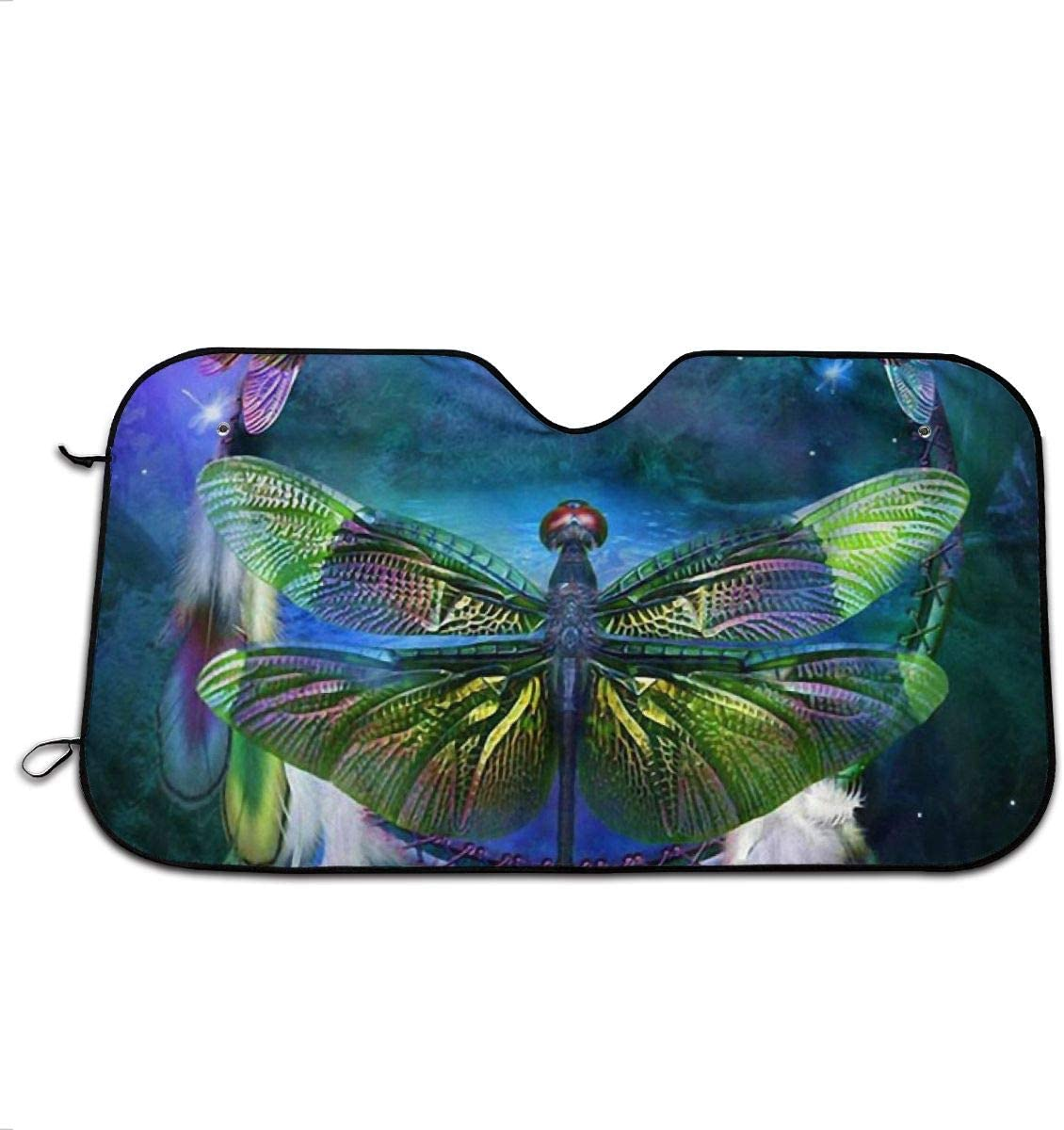 TPSXXY-WS Floral Dragonfly Windshield Sunshade for Car SUV Truck Foldable UV Ray Reflector Front Window Sun Shade Visor Shield Cover