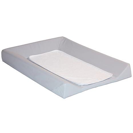Babycalin Colchón cambiador Luxe gris + toalla blanco