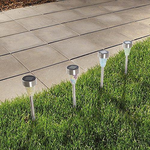 Solar Powered Led Mosaic Glass Garden Stake Lights - 3