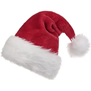 60db1f5ff74ca Amazon.com  BALORAY Santa Hat for Adults Big Santa Hat Comfort ...