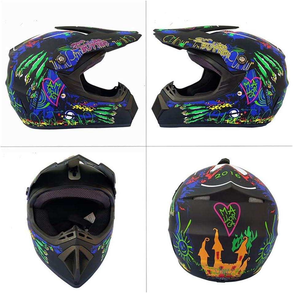 Schwarz gr/ün 2, XL Adult Motorrad Sports Enduro Downhill ATV MTB Quad Motorr/äder Off-Road-Motorrad-Helm ZOLOP Motocross Helm Erwachsener Herren Crosshelm mit Brillen Maske Handschuhe