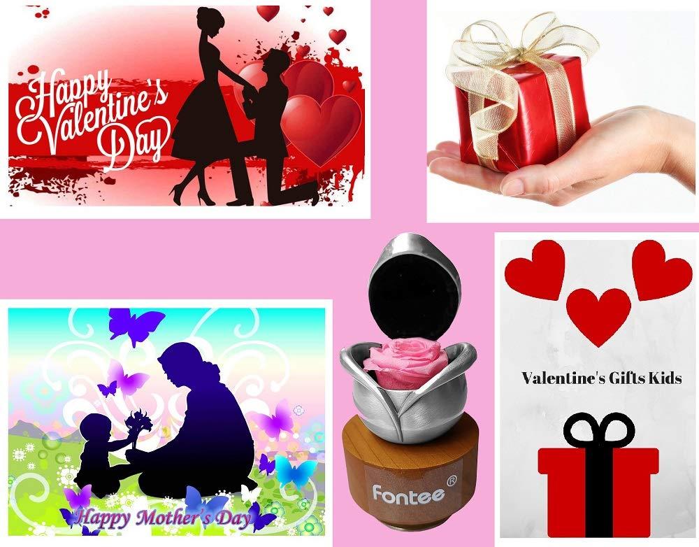 Bo/îte /à Musique avec Fleur /éternelle Faite /à la Main dans Une bo/îte /à Bijoux Musicale en m/étal Cadeau pour Femme Saint Valentin f/ête des m/ères Anniversaire Anniversaire de Mariag Fontee/®