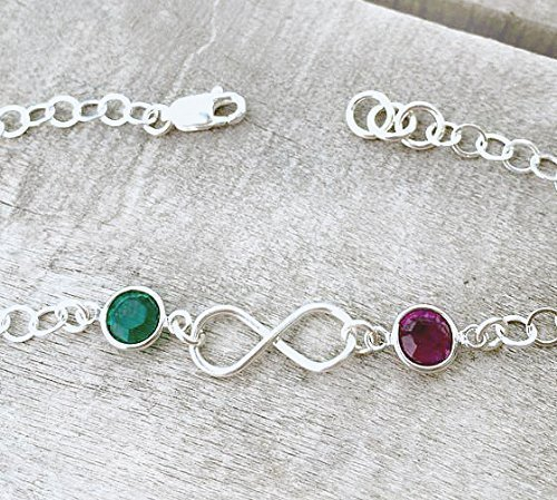 46aaffd53e Amazon.com: Couples Infinity Bracelet - Sterling Silver and ...