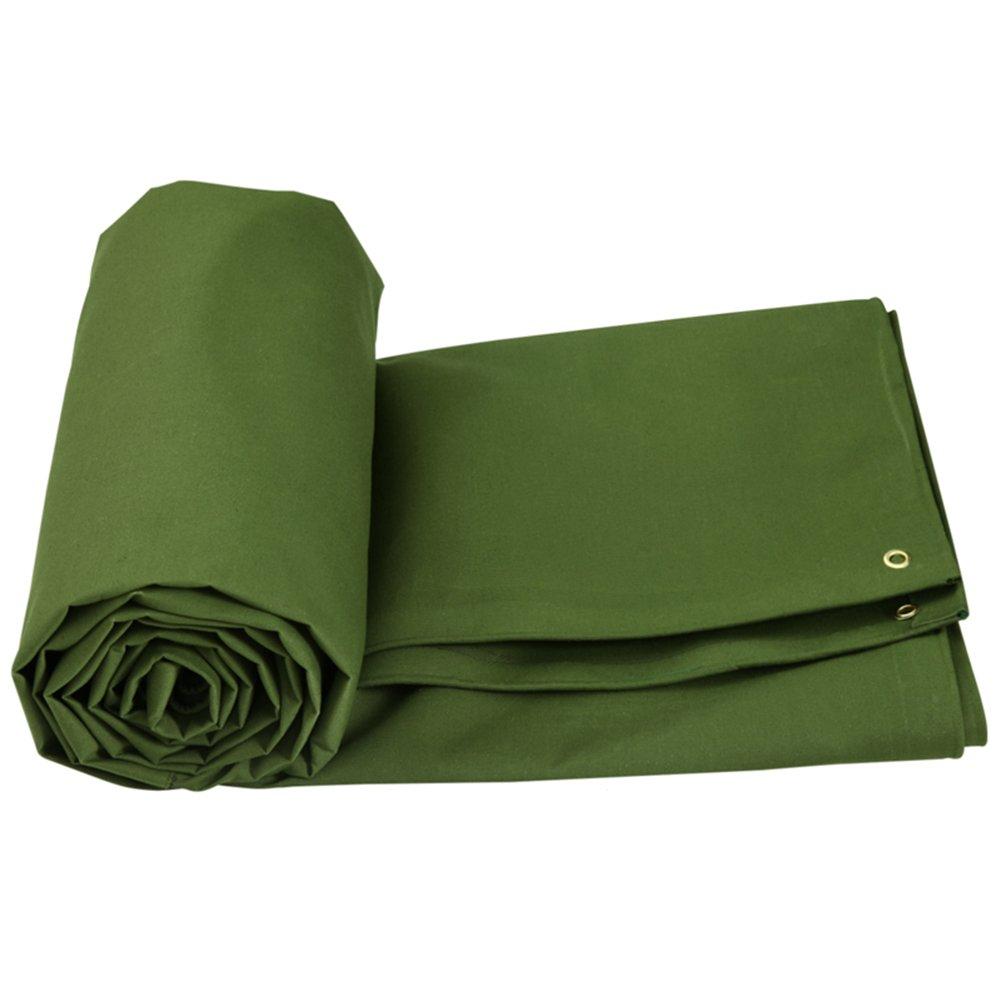 LIANGJUN オーニング 両面 防水 肥厚 日焼け止め 屋外 陰干し布 キャンバス 耐寒性 600g/m²、 アーミーグリーン、 10サイズ ( サイズ さいず : 6X5m ) B07CN59R1Y 21582 6X5m  6X5m