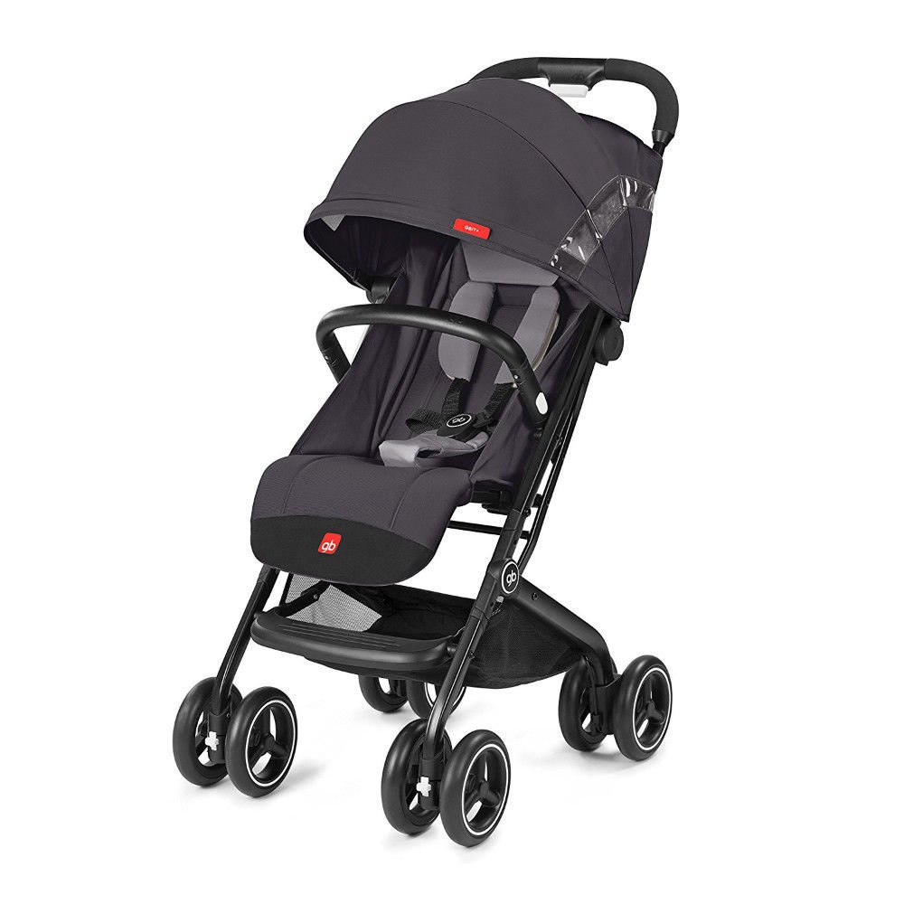 gb 2018 Buggy QBIT+ WITH Bumper Bar ''Silver Fox Grey'' - from birth up to 17 kg (approx. 4 years) - GoodBaby QBIT PLUS