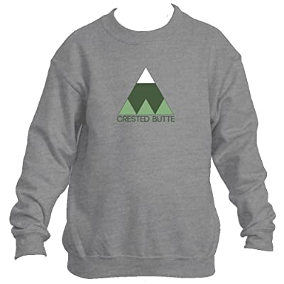 Crested Butte Minimal Mountain - Colorado Youth Fleece Crew Sweatshirt - Unisex