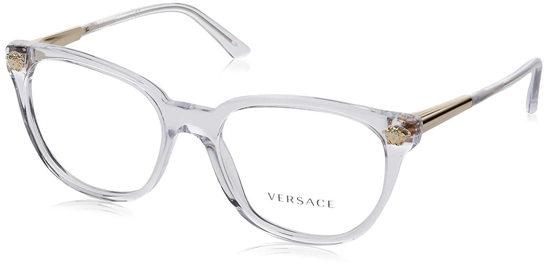 5cbee34b24 Amazon.com  Eyeglasses Versace VE 3242 A GB1 BLACK  Clothing