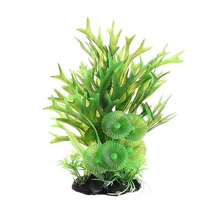Daxibb Plantas de Acuario Acuático Plantas Plástico Con Base Estable Pecera Tanque Decoración Anterior