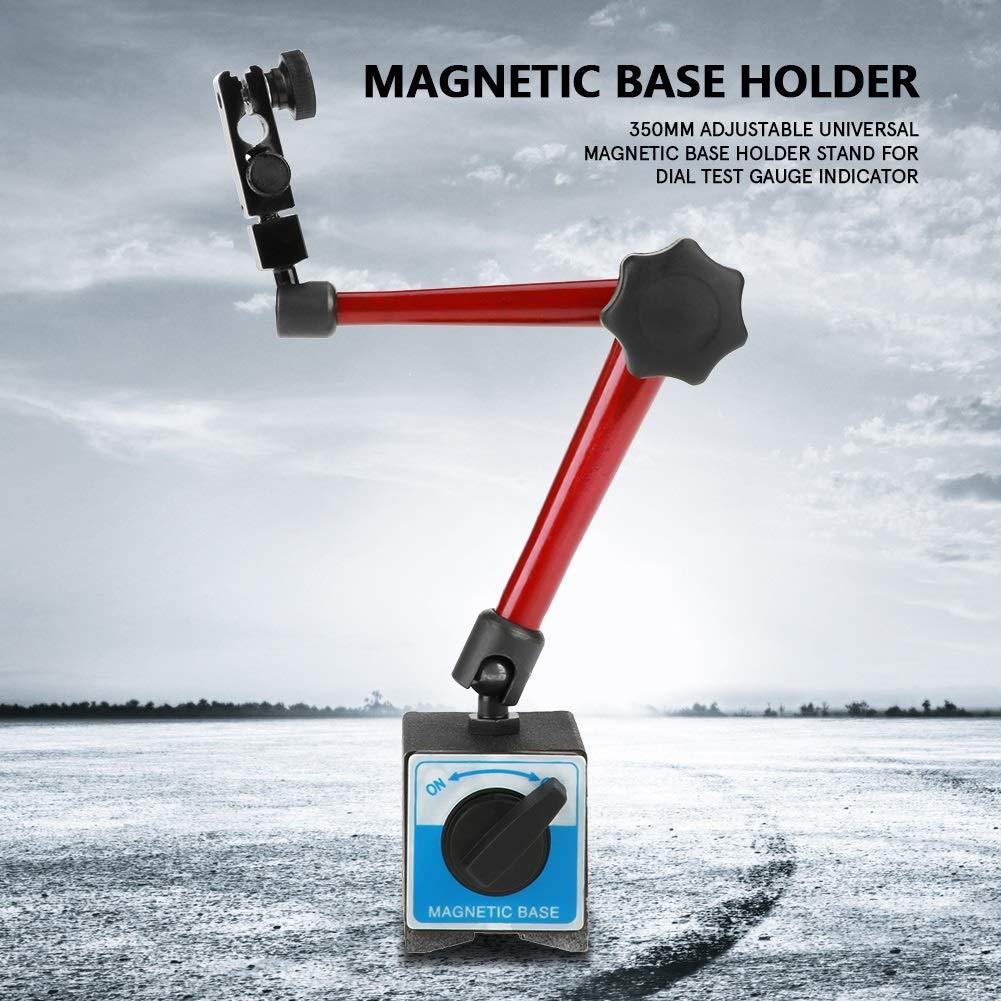 Dial Indicator Holder - 350mm Adjustable Universal Magnetic Base Holder Stand for Dial Test Gauge Indicator,Dial Holder,Dial Gage Holder by OKBY (Image #2)