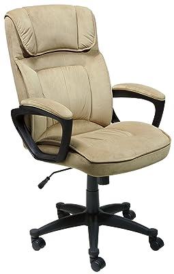 Serta Executive Office Chair, Microfiber, Light Beige, 43670