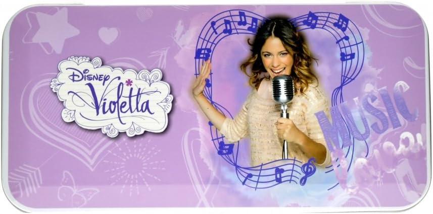 Violetta Conjunto Trucco Astuccio en Metallo con Trucchi Disney Bambina Portapenne: Amazon.es: Belleza