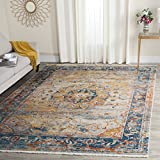 Safavieh Vintage Persian Collection VTP435B Traditional Oriental Blue and Multi Area Rug (4' x 6')