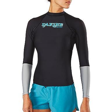 58f5165735 Dakine Women's Flow Snug Fit Long Sleeve Rashguard Shirt at Amazon ...